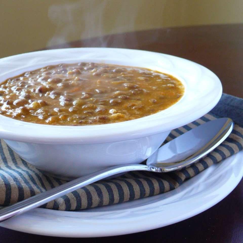 Greek Rosemary And Lentil Soup Recipe Recipes Lentil Soup Greek Dishes