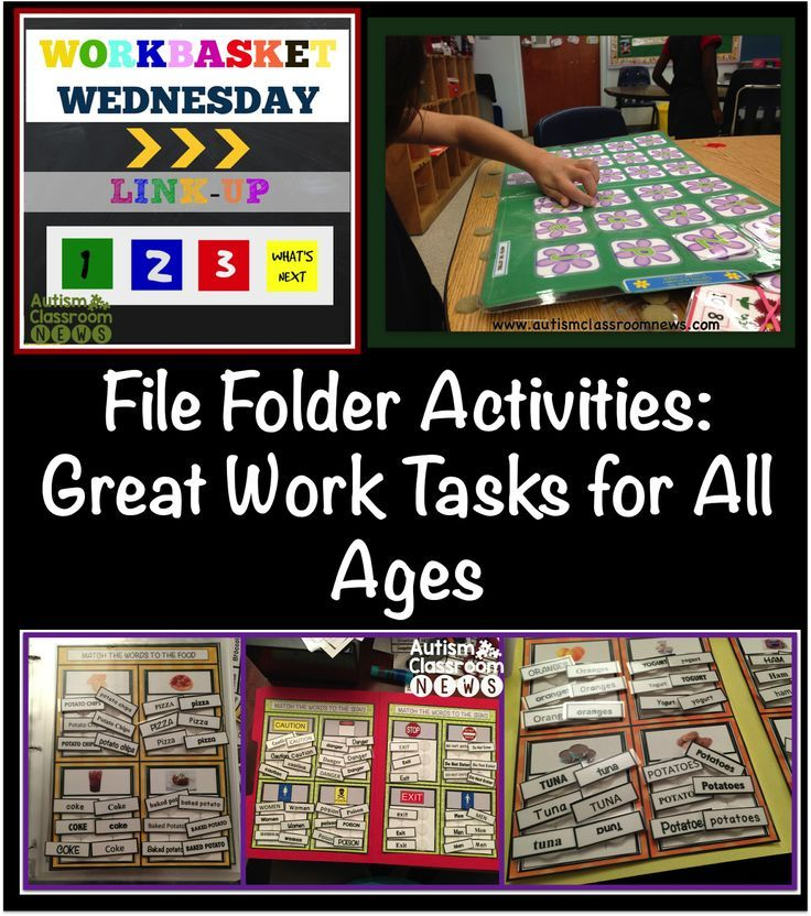 Autism Classroom NewsFile Folder Activities-Great Work Tasks for all Ages {Workbasket Wednesday}