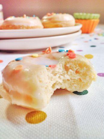 Mini donuts glaseados super esponjosos y ligeros!!