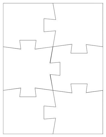 Jigsaw Puzzle Template 6 Pieces Tim S Printables Puzzle Piece Template Jigsaw Puzzles Printable Puzzles