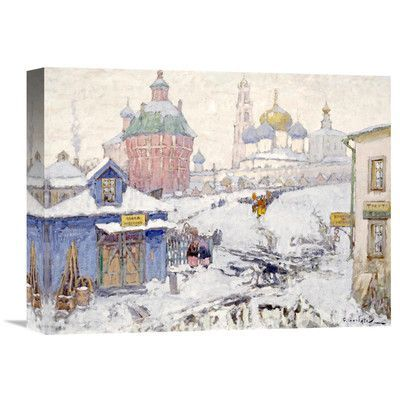Global Gallery 'Townscape in Winter' by Konstantin Ivanovich Gorbatov Painting Print on Wrapped Canvas Size: