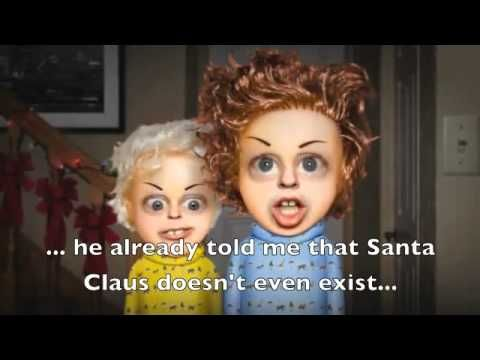 Pere Noel Video Pere Noel tetes a claques English Subtitles | Teaching french