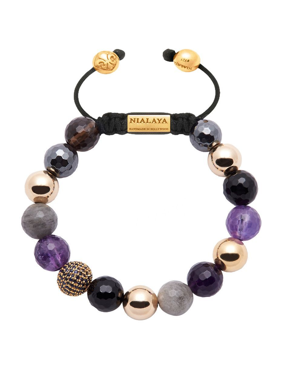 bc7422ece44e Women s 14K Gold Collection With Amethyst And Blue Sapphire Diamonds ...