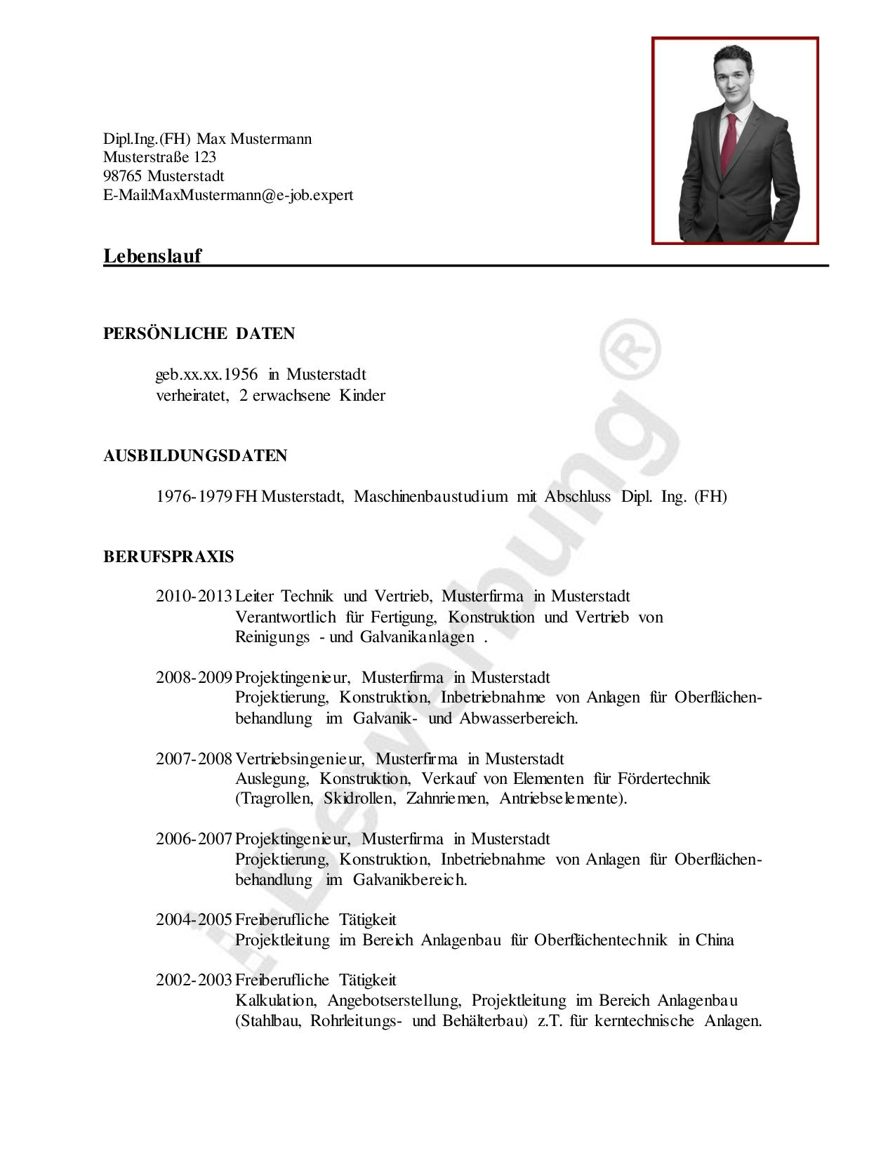 Berühmt Projektleiter Lebenslauf Pdf Ideen - Entry Level Resume ...