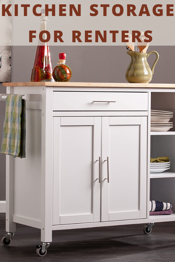 kitchen storage ideas for renters in small or large spaces that do not require any installation #decoratekitchenisland #kitchendecor #kitchendecoration #kitchendecorating #kitchendecoratingideas#homedecor #homedecoration #diyhomedecor #homedecorating #decorhome #homedecorideas #homedecorlovers #homedecorationideas #homeanddecor #decorateyourhome #homedecorblog#kitchenstorageforrenters