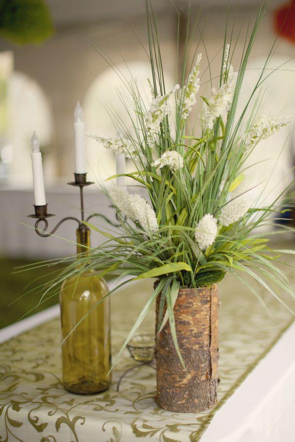 Tischdeko hochzeit ideen rustikale deko holzrinde for Rustikale tischdeko