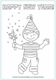 Kleurplaten Gelukkig Nieuwjaar.Gelukkig Nieuwjaar Kleurplaat Boy Puk Oud En Nieuw