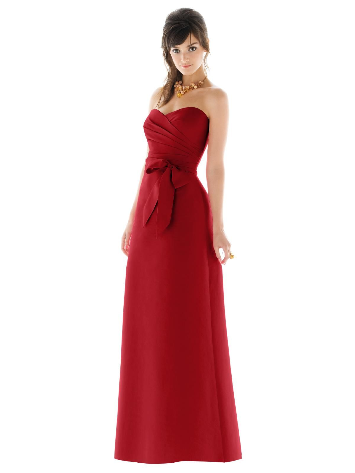 Alfred sung style d453 color garnet 13500 wedding the alfred sung bridesmaid collection offers fresh contemporary bridesmaid dresses while keeping your budget in mind ombrellifo Image collections