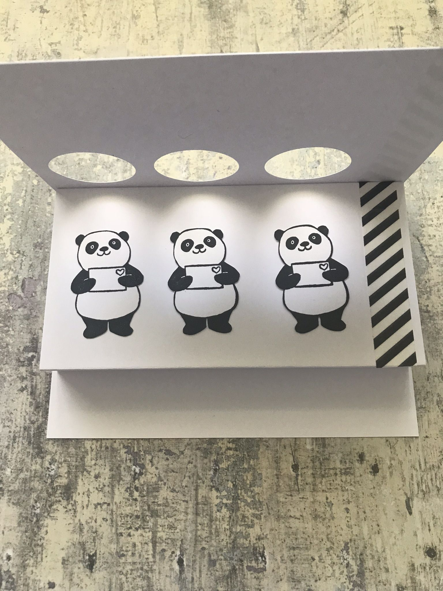 Stampin Up Party Panda Pop Up Window Card Stampinup Partypanda Panda Handmade Card Panda Card Pop Up Cards Stampin Up Party