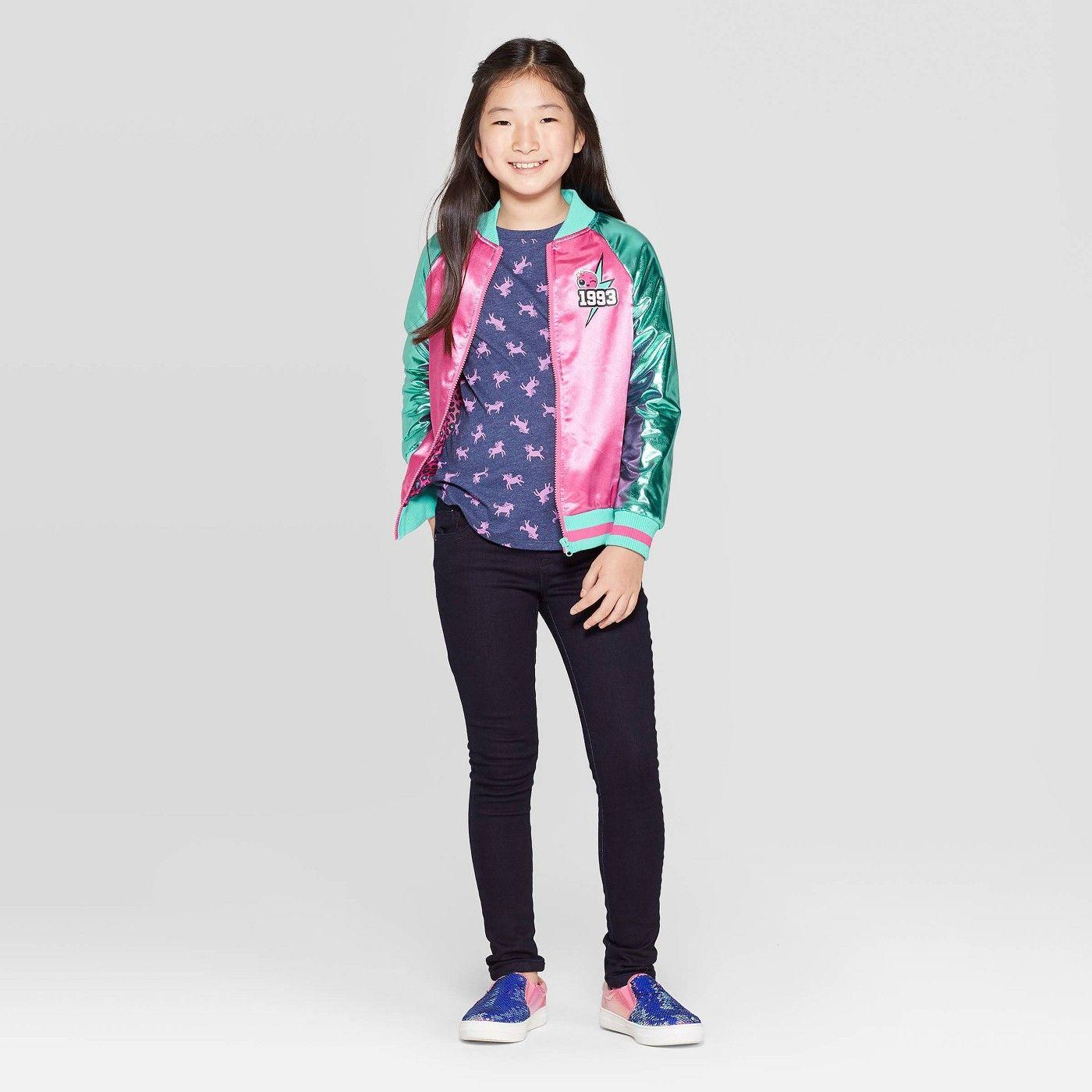 Girls L O L Surprise Go Team Glitter Track Jacket Pink Affiliate Team Ad Surprise Girls Jackets Pink Bomber Jacket Track Jackets [ 1400 x 1400 Pixel ]