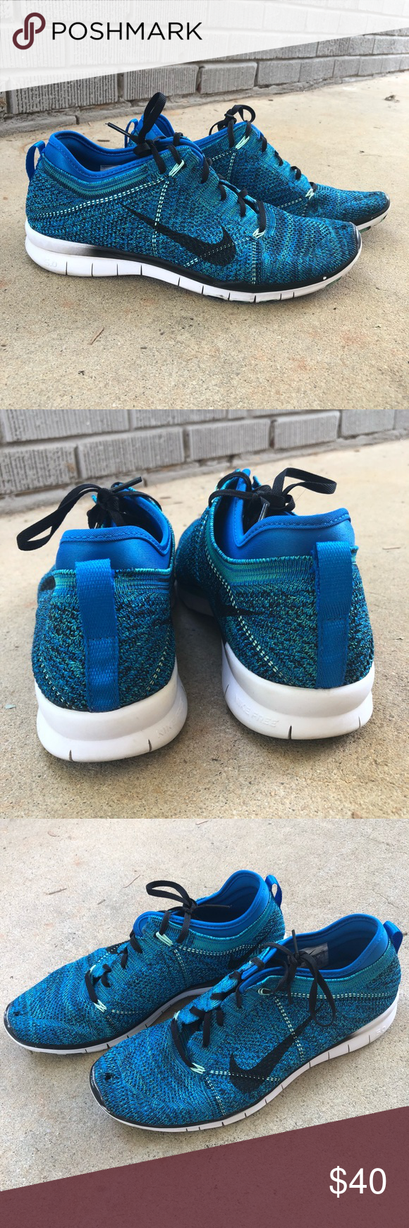 Nike Fly Knit running shoes Royal blue