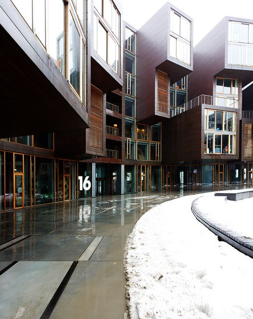Lundgaard & Tranberg / Tietgenkollegiet. Sickest College dorm layout I've ever seen.