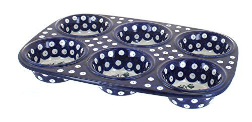 Polish Pottery Alyce Muffin Pan * Want additional info? Click on the image.