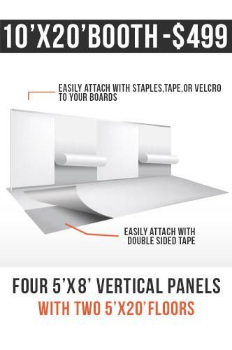 Vinyl Trade Show Display Booth Package 10 X 20 Vertical Printed Tsp103 Trade Show Display Vinyl Board Vinyl
