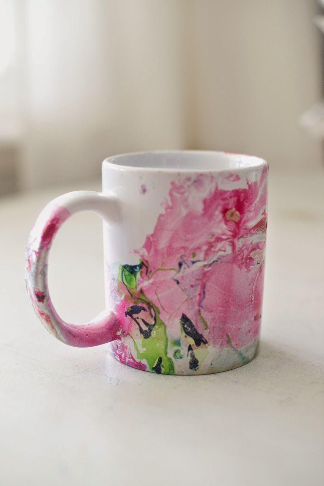 Diy Marbled Nail Polish Coffee Mugs Coffee Cup Crafts Nail Polish Crafts Nail Art Diy