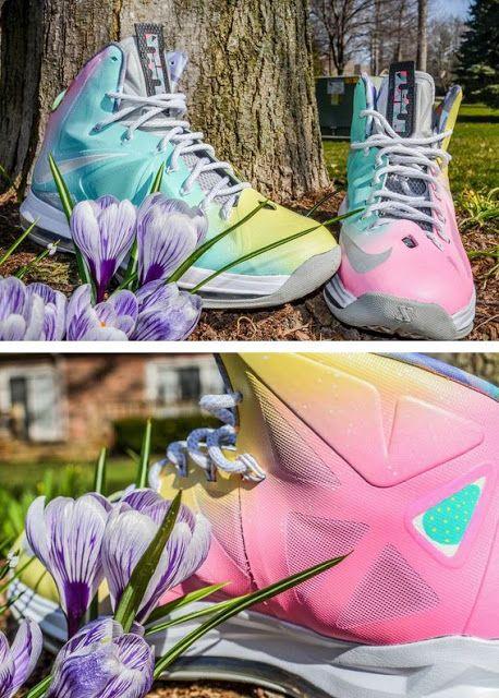 "newest eb58b dca50 Nike LeBron X ""Easter Prism"" Custom Sneaker"
