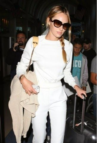 How to Chic: CANDICE SWANEPOEL - ALL WHITE OUTFIT