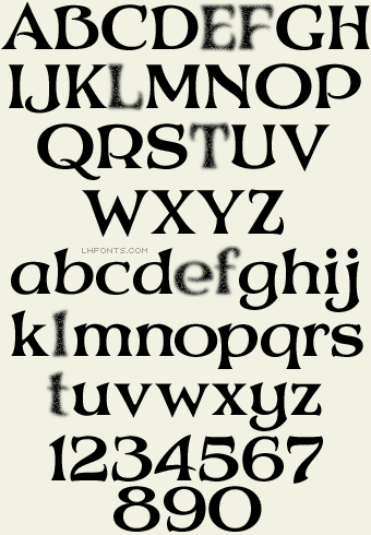 Letterhead Fonts LHF Mystery Font Regular Art Nouveau