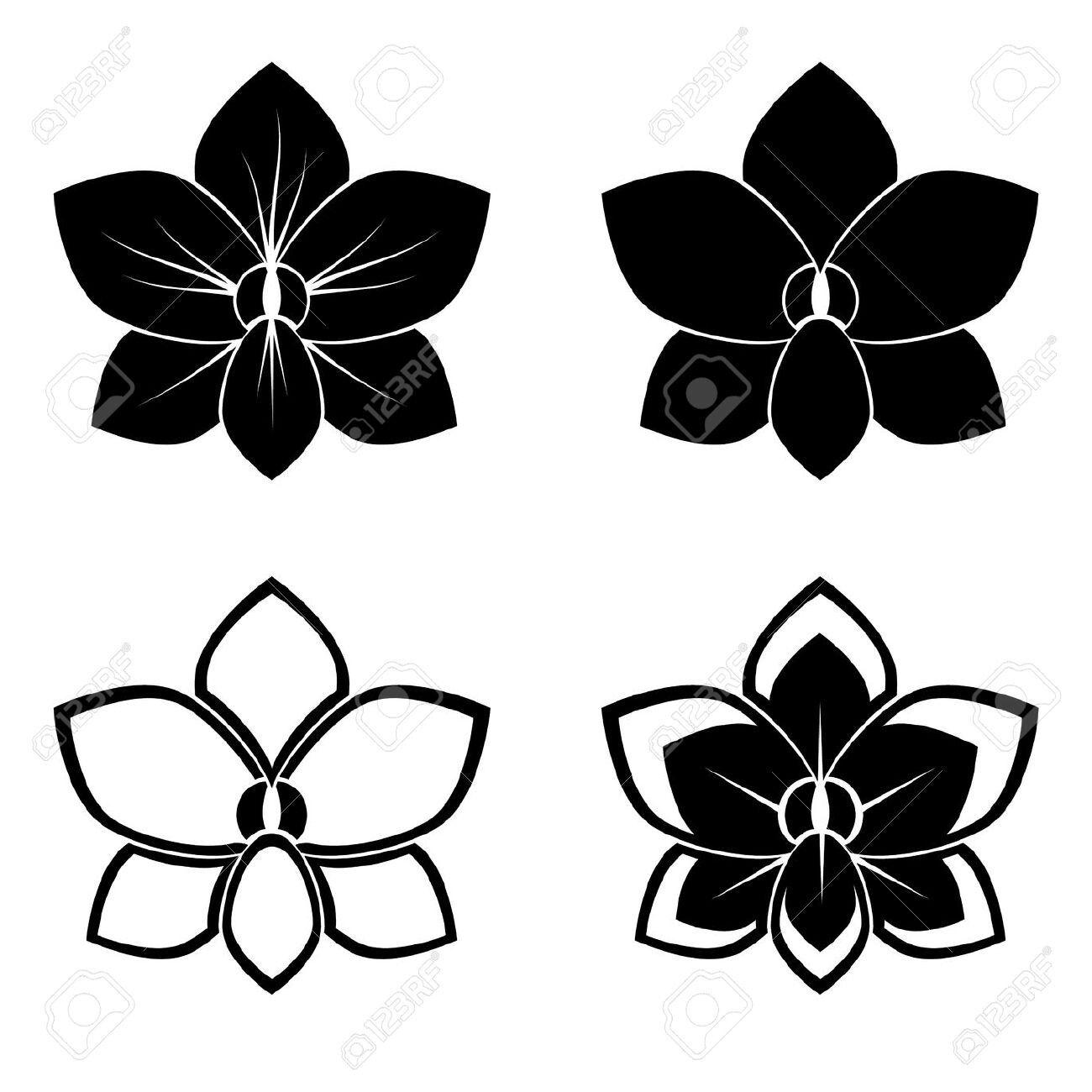 Black orchid vector tattoos pinterest black orchid tatting black orchid vector buycottarizona