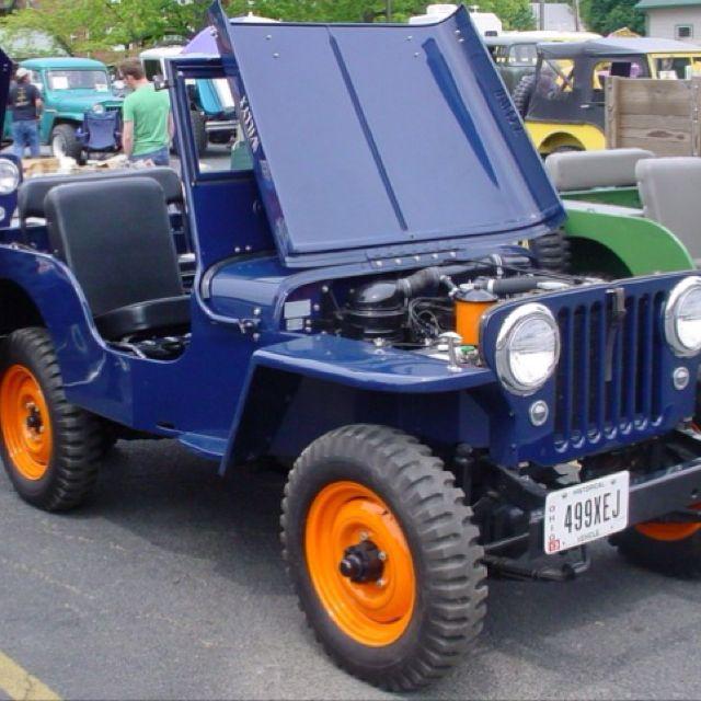 CJ2A Willys Jeep Normandy Blue | Jeep Please. | Pinterest | Jeeps ...
