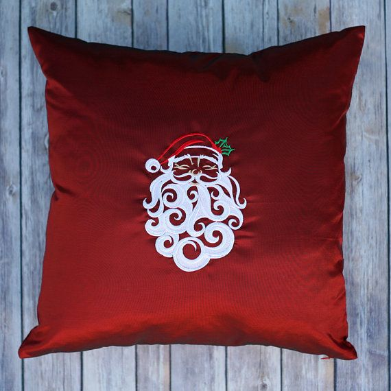 Whirling Swirling Santa on Red by mycousinmadeit on Etsy