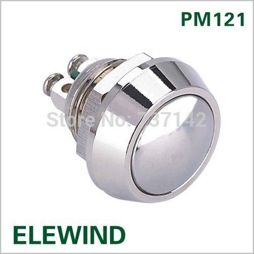 ELEWIND 12 미리메터 돔 머리 순간 푸시 버튼 스위치 (PM121B-10/N)