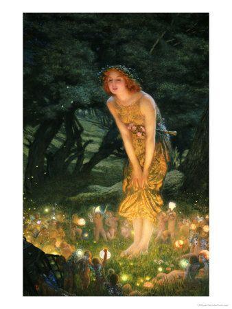 Midsummer Eve | John William Waterhouse | Edward robert hughes ...