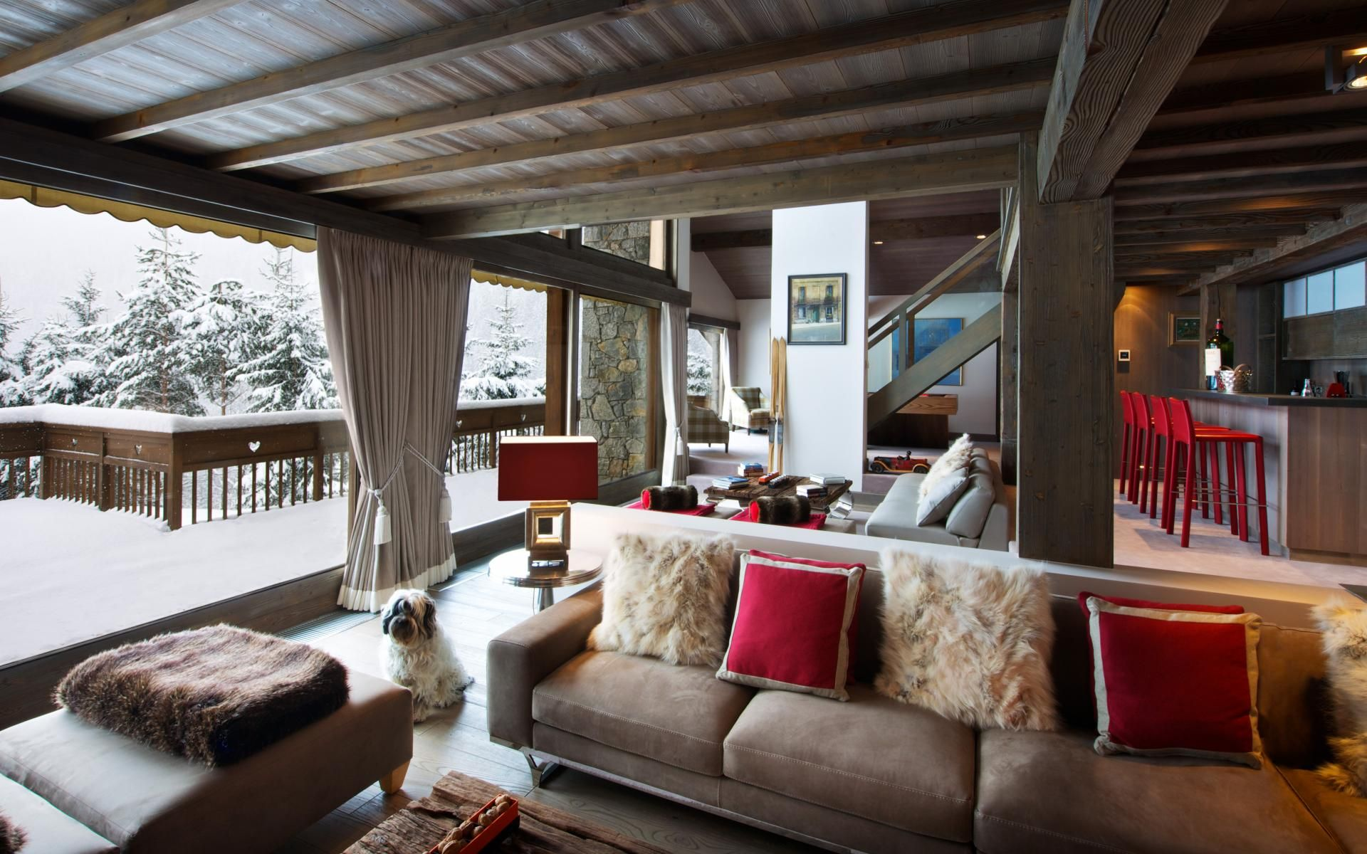 Contemporary chic at the luxury chalet Les Brames in Meribel, France.