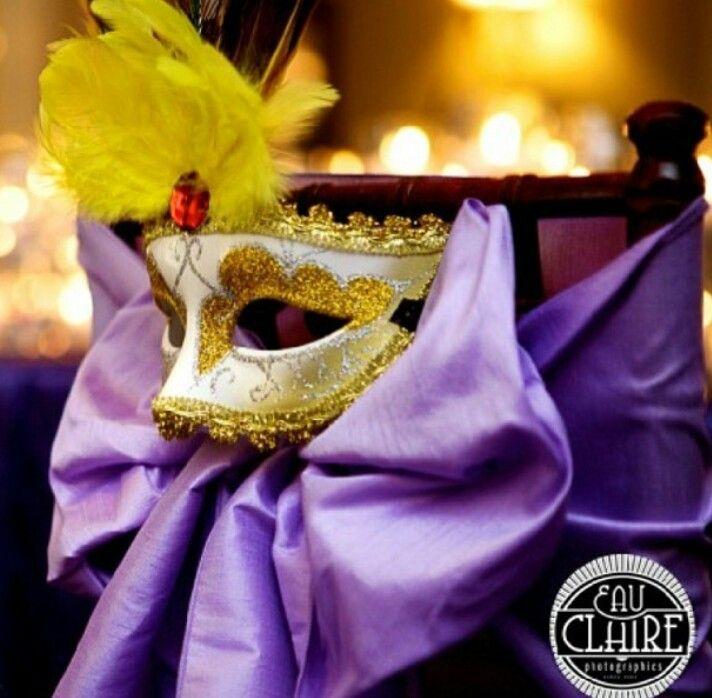 Mardi Gras Mask Adorn Chair Sash Mardi Gras Party Ideas