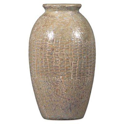 Silver Glazed Snake Skin Vase - BedBathandBeyond.com