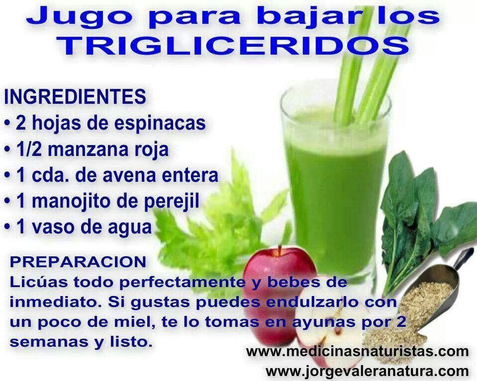 jugos para bajar trigliceridos colesterol y acido urico