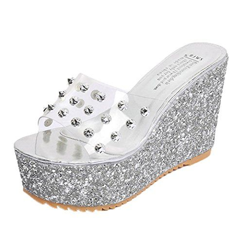 f627aa6be8c0 DENER Women Girls Ladies Summer Wedge Slippers Moccasins