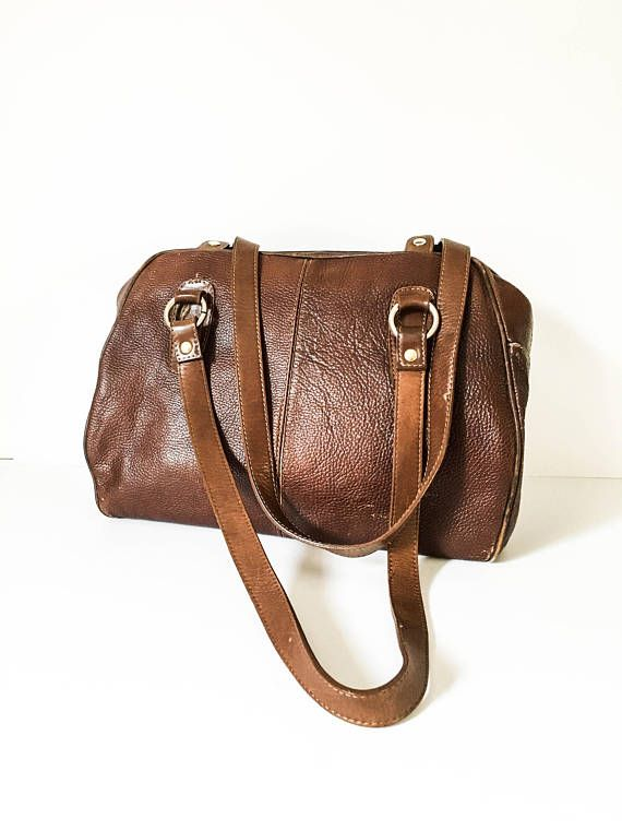 4629f510a9ae Brown leather handbag - Italian leather handbag - Distressed leather purse  - Large leather handbag -