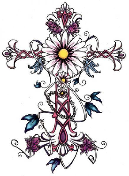 Cross Tattoo Design For Women Feminine Cross Tattoos For Women