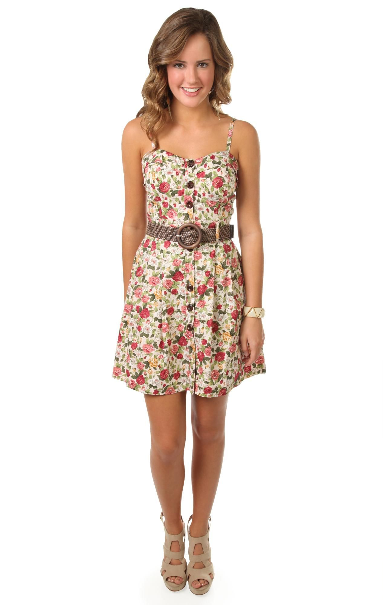 7fc0a7389f51 floral printed spaghetti strap corset style casual dress Spaghetti, Flower  Power, Spring Summer Fashion