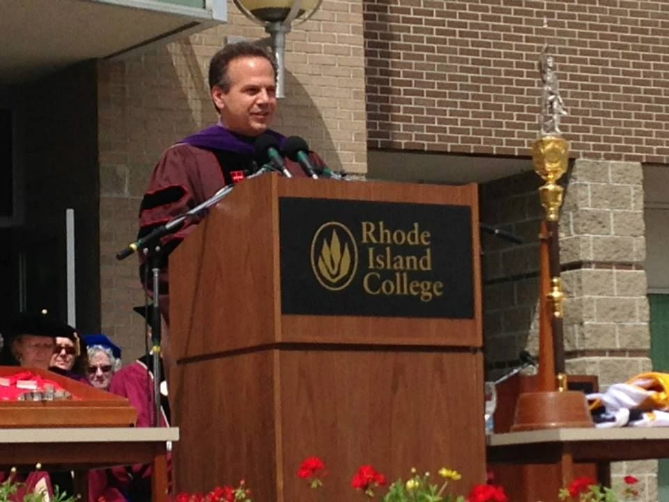 Congressman David Cicilline addresses the grads. Rhode