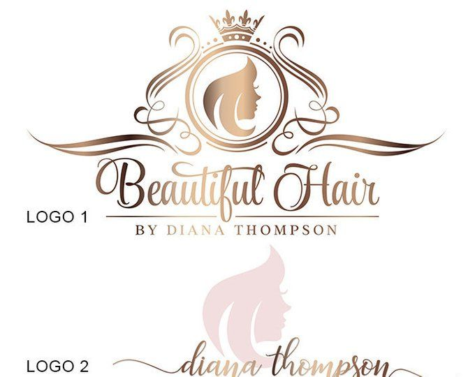 Hair Extensions Logo Gold Hairdresser