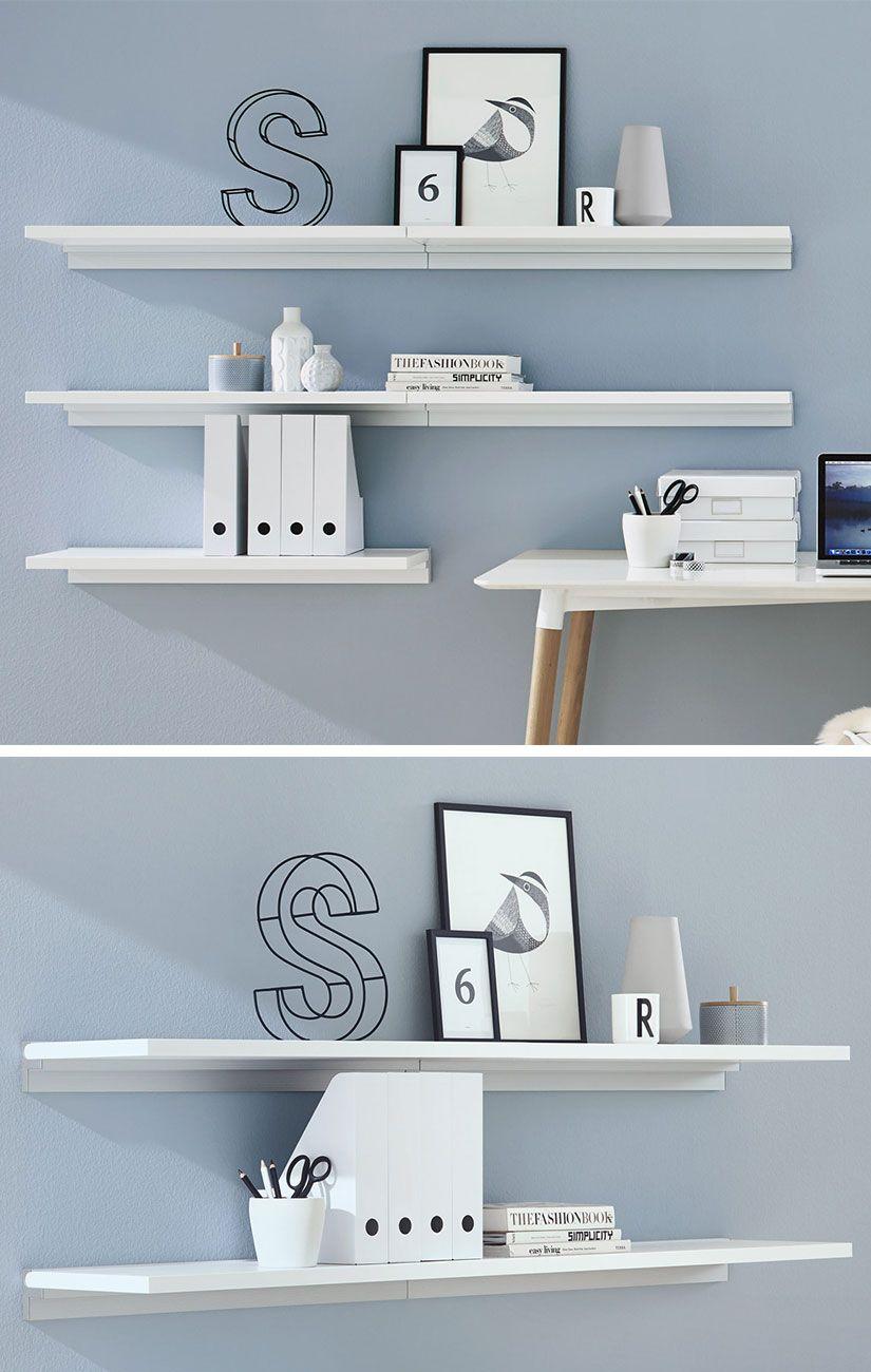 Beeindruckend Weißes Bücherregal Dekoration Von Bücherregal / Wandregal In Weiß – Ideal