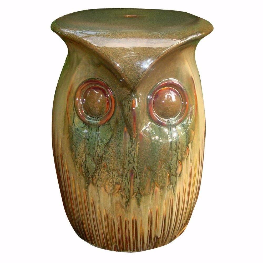 Home Decorators Collection Brown Owl Garden Stool-DISCONTINUED ...