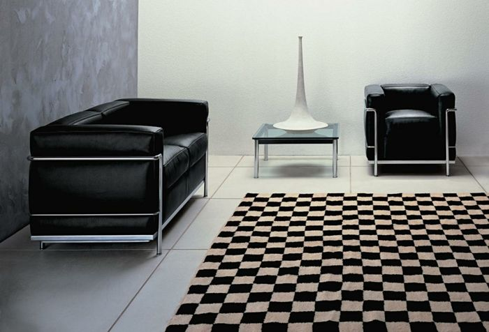 Le Corbusier Möbel Lc 2 Zimmer Einrichtung Schach Brett