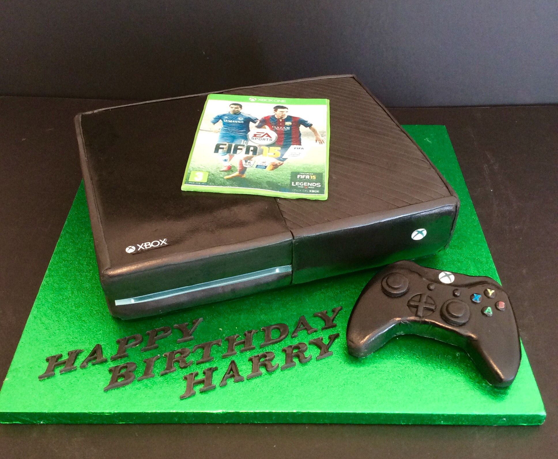 Xbox one birthday cake cake creations pinterest xbox for Decoration xbox one