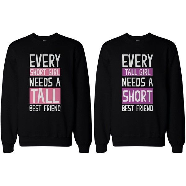 Christmas Gift Ideas For Girl Best Friends: BFF Gifts Tall And Short Best Friend Matching Sweatshirts