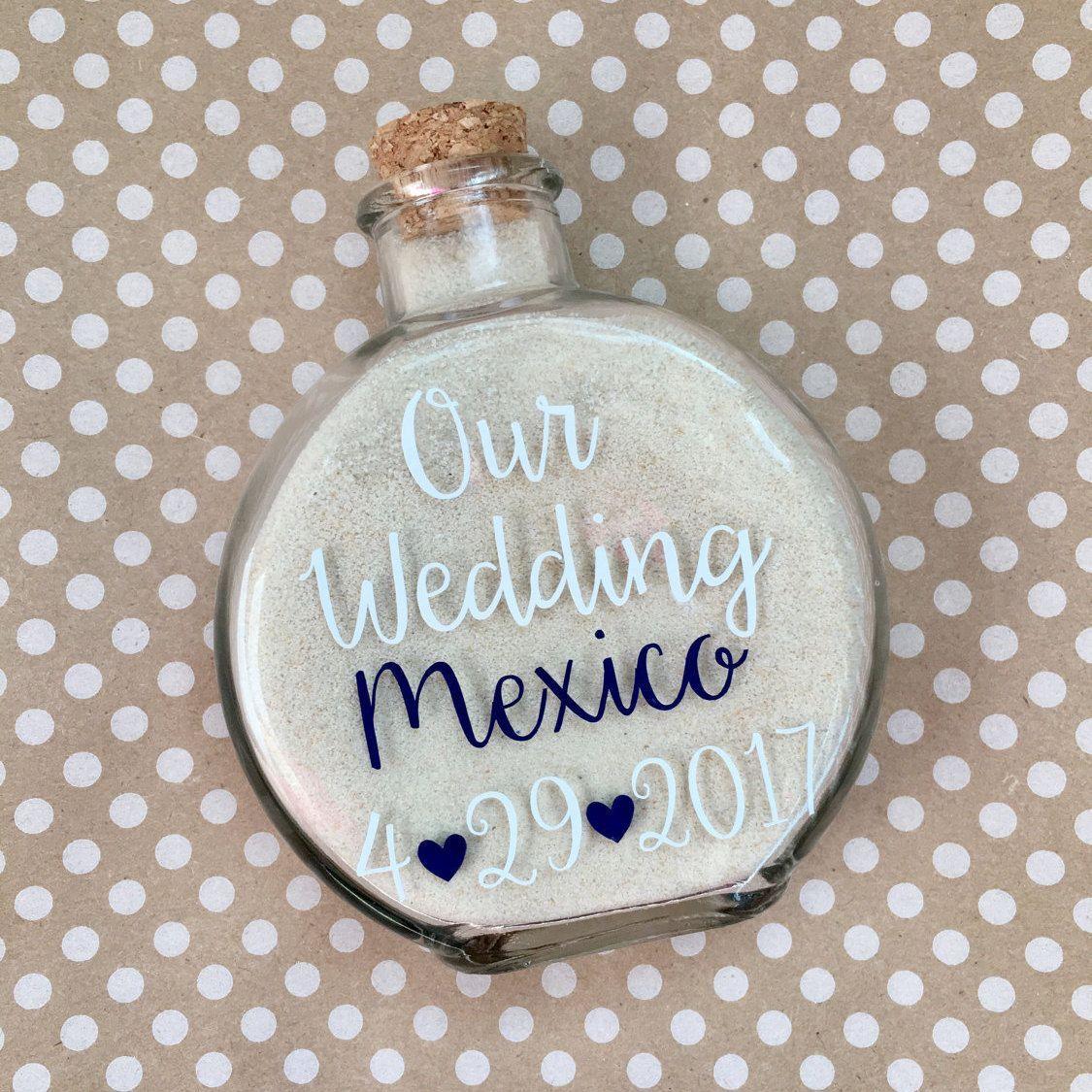 Destination Wedding Sand Holder Keepsake//Destination Wedding ...