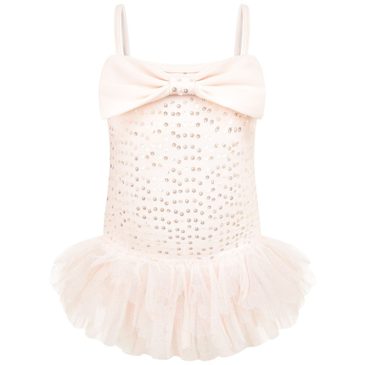 Kate Mack Girls Pink Sequin Tulle Swimming Costume Oh Baby