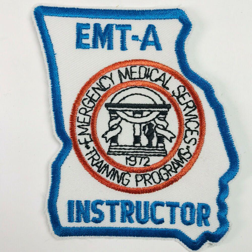 Georgia Emt A Instructor Emergency Medical Services Training Program Patch Emergency Medical Medical Services Emt