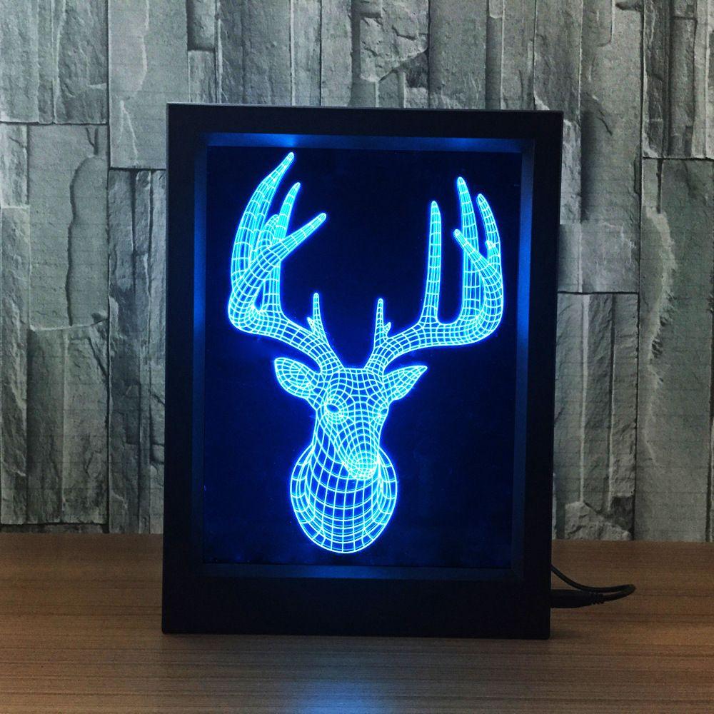 Deer 3d Illusion Lamp Xstron Luminarias Led Led