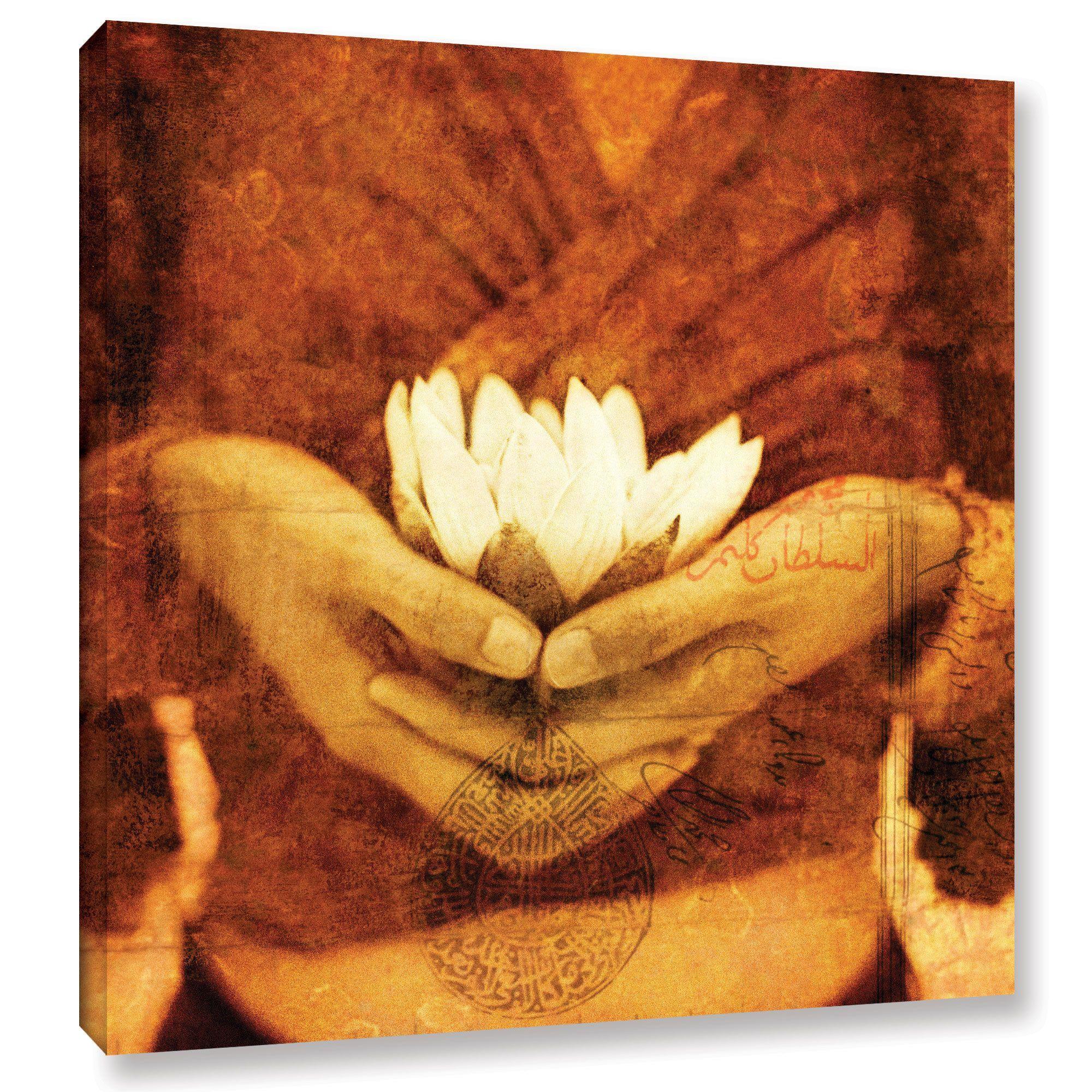 Artwall elena ray lotus gallery wrapped canvas is a stunning artwall elena ray lotus gallery wrapped canvas is a stunning monchromatic reproduction featuring izmirmasajfo