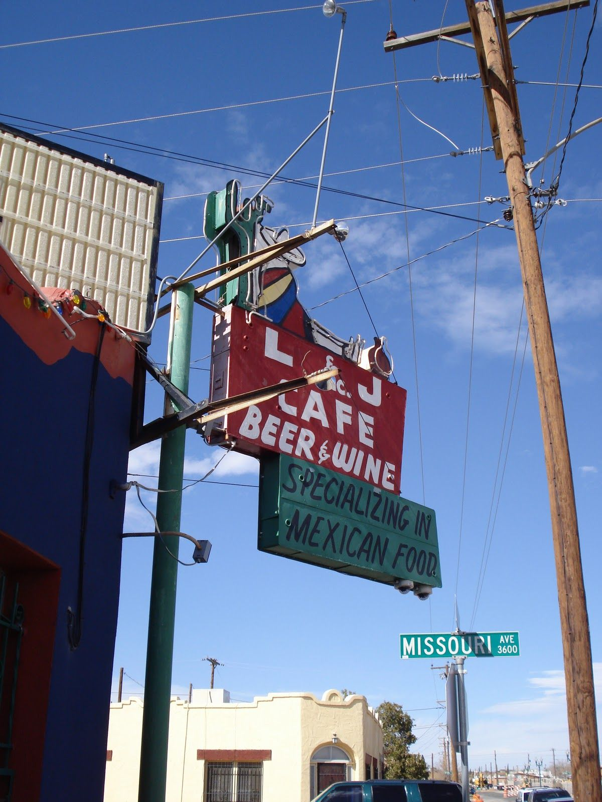 L And J Cafe The Old Place By The Graveyard Road Trip Across America El Paso Texas El Paso