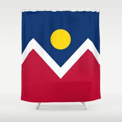 Denver (Colorado) city flag - Authentic version Shower Curtain by LonestarDesigns2020 - Flags Designs + - $68.00