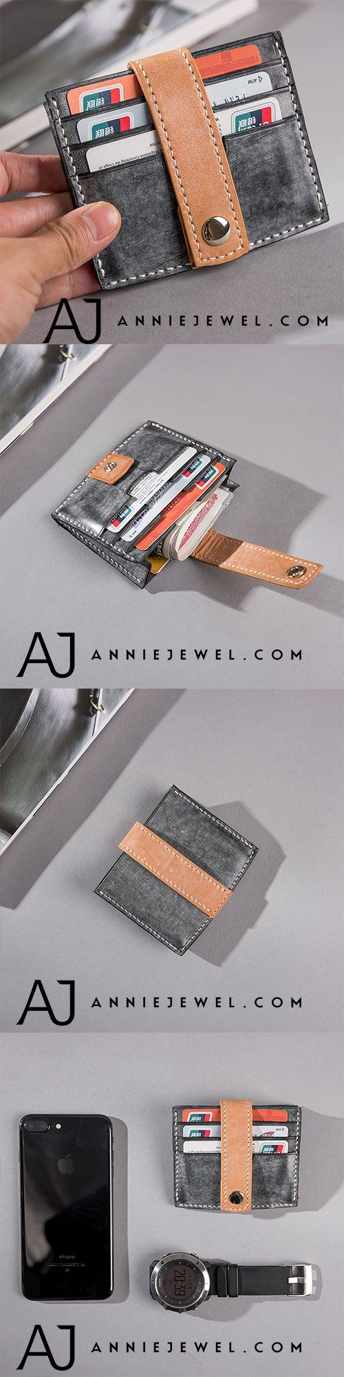 Genuine Leather Wallet Handmade Short Wallet Clutch Cards Wallet Coin Purse Women #leatherwallets